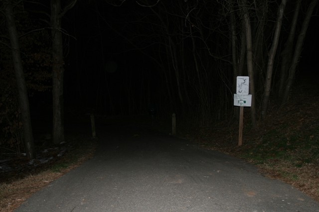 The same location in the dark