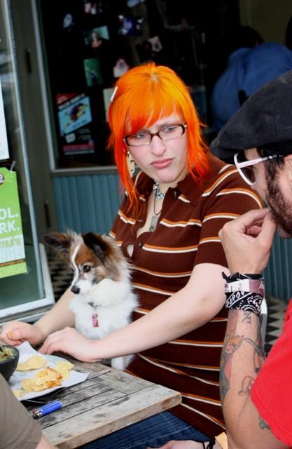 Seriously orange hair