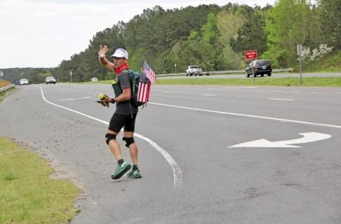 Dave Cockman heads east on U.S. Highway 64 near Pittsboro 2 (800x528)