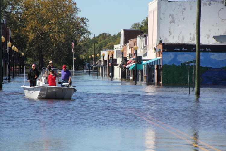 Fair Bluff is a small town in southeastern North Carolina. The News Reporter, based in the nearby town of Whiteville covered the devastating flooding that occurred in the region. Photo by Allen Turner